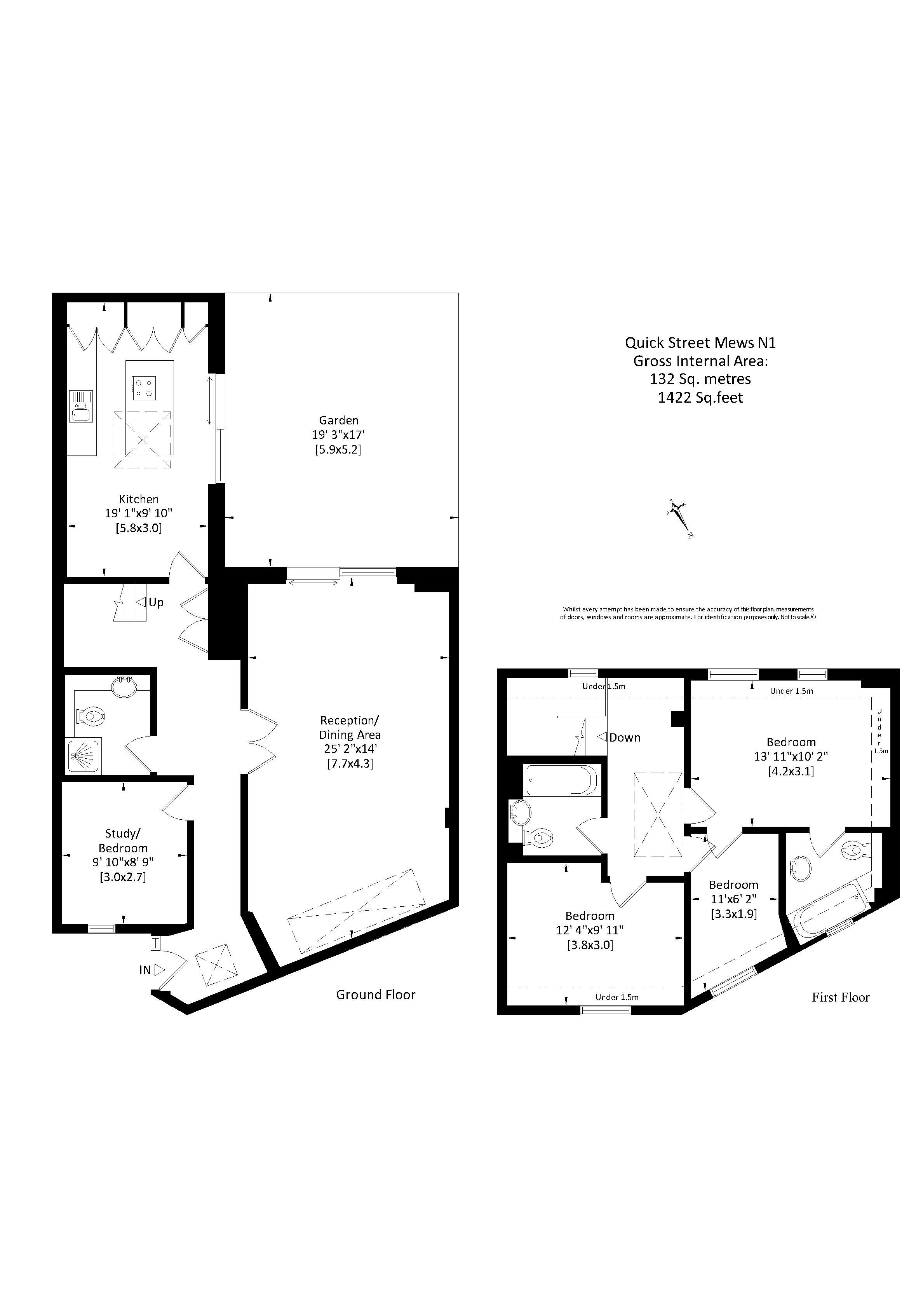 Quick street mews n1 carlton estate agents for Floor plans for realtors